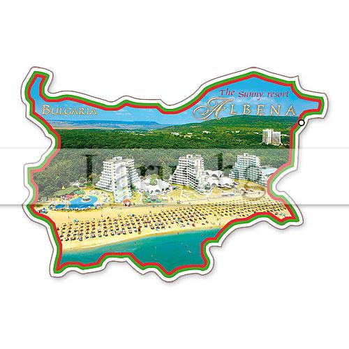 Сувенир-магнит,щанца, БГ карта Албена