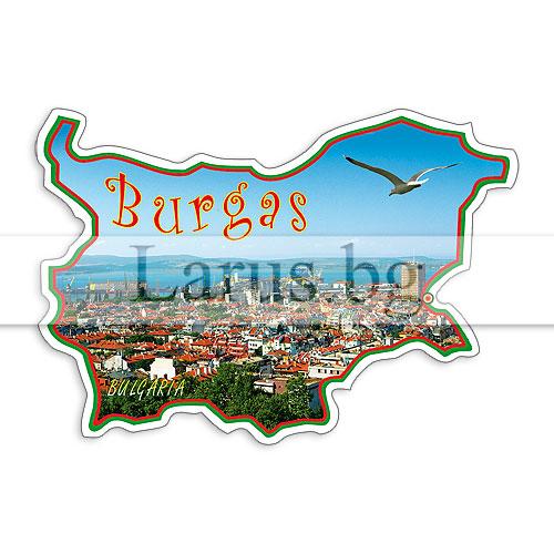 Сувенир-магнит,щанца, БГ карта Бургас