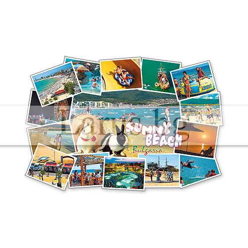 Сувенир-магнит,щанца, фоторамка Слънчев бряг