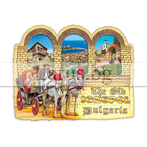 Сувенир – магнит, арка Созопол